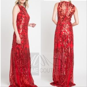 'LADY IN RED' SEQUIN GOWN
